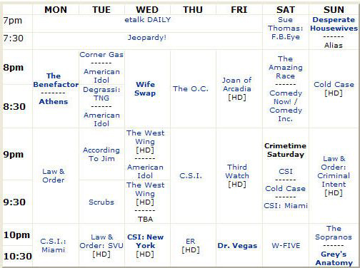 CTV-FALL-2004-TV-SCHEDULE