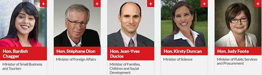 Justin Trudeau's cabinet ministers