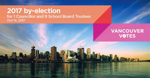 2017 Vancouver city by-election voting day, October 14th