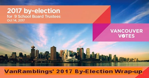 2017 Vancouver Civic By-election VanRamblings Wrap-Up, Part 3: School Board