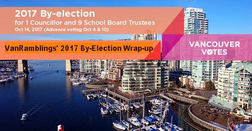 2017 Vancouver Civic By-Election VanRamblings Wrap-Up, Part 2