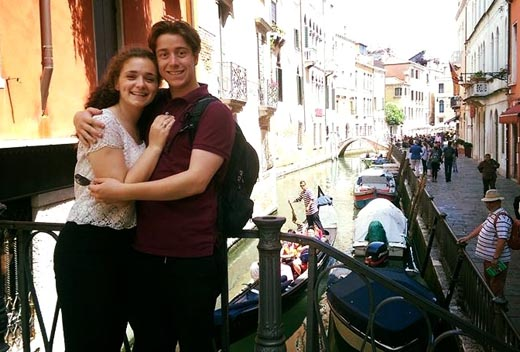 Adi Pick and her beloved, Nico, visiting Venice, while she considers a run for School Board