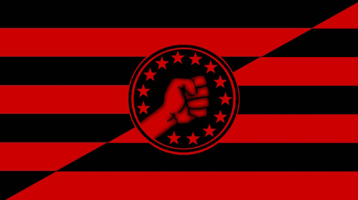 Anarcho-syndicalist flag