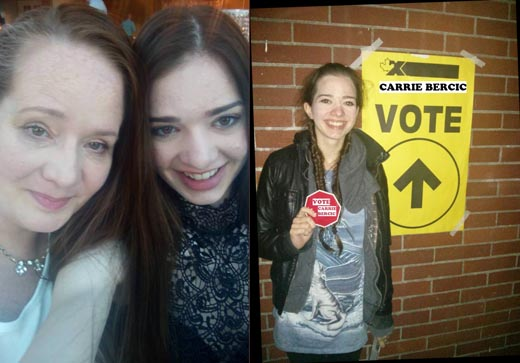 Carrie Bercic's daughter Sarah suggests you save a vote for her mom
