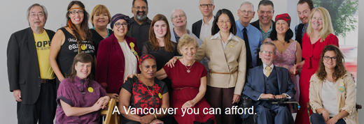 Coalition of Progressive Electors 2014 Vancouver Civic Election Slate of Candidates