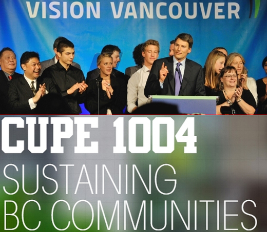 CUPE works to get Vision Vancouver re-elected