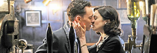 Rachel Weisz embraces Tom Hiddleston, in Terrence Davies' Deep Blue Sea
