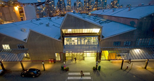 Emily Carr University, located on Granville Island, in the heart of Vancouver