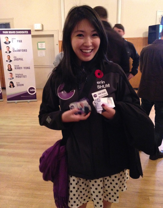 Erin Shum, An Outstanding Candidate for Vancouver Park Board in 2014