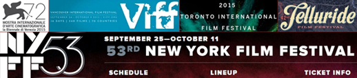 September film festivals, from Venice, Telluride and Toronto, to Vancouver and New York