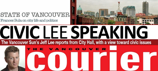 Vancouver civic affairs blogs: Frances Bula, Jeff Lee, Mike Howell