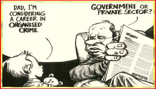 Government or Private Sector, Crime
