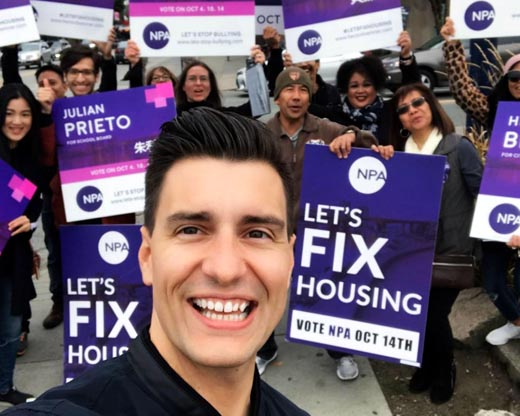 Hector Bremner, Vancouver Non-Partisan Association (NPA) candidate wins Vancouver City Council seat