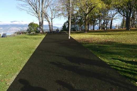 North end, Kitsilano Beach, blacktop bike path graphical projection