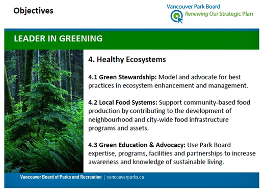 Vancouver Park Board Local Food Action Plan