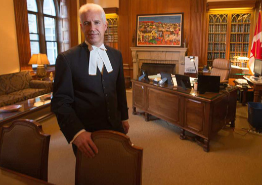 Marc Bosc, Deputy House of Commons Clerk, in his office on Parliament Hill