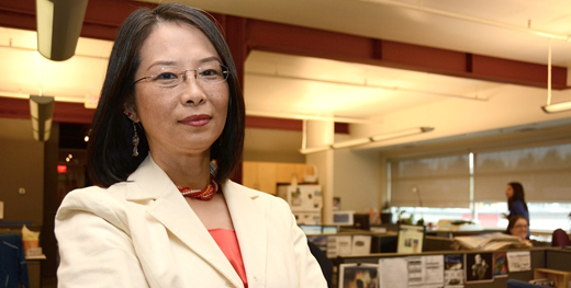 Meena Wong, COPE's Mayoral candidate in the 2014 Vancouver civic election
