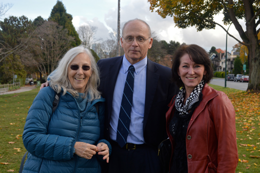 The Hadden Park Trio: historian Megan Carvell Davis, lawyer Robert Kasting, and Kitsilano activist, Tina Oliver