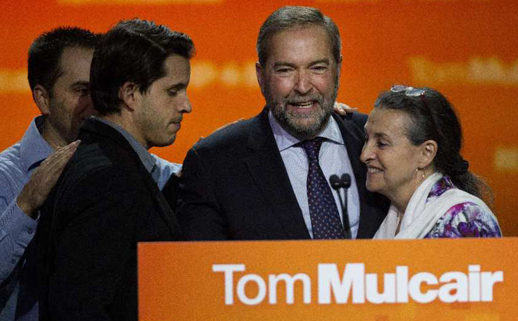 Tom Mulcair and the NDP go down to defeat in Canada's 42nd national election