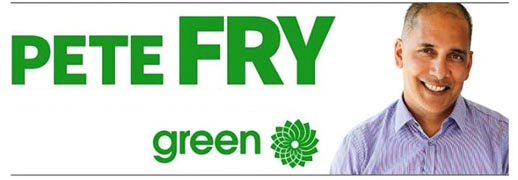 Pete Fry, Vancouver Green Party by-election candidate for Vancouver City Council
