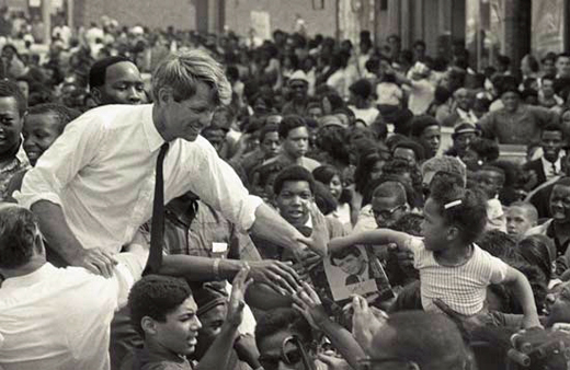 Robert F. Kennedy On The Campaign Trail To Become President of The United States