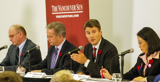 2014 Mayoral Debate, at SFU Harbour Centre