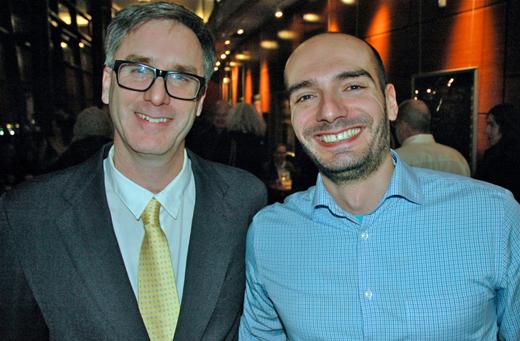 Vancity Theatre programmer Tom Charity, Italian Cultural Centre Director Giulio Reccchioni