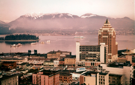A photo of Vancouver in 1950
