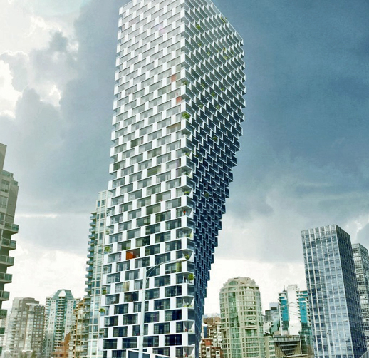 Vancouver House, a Bjarke Ingels condominium project for Westbank Corp