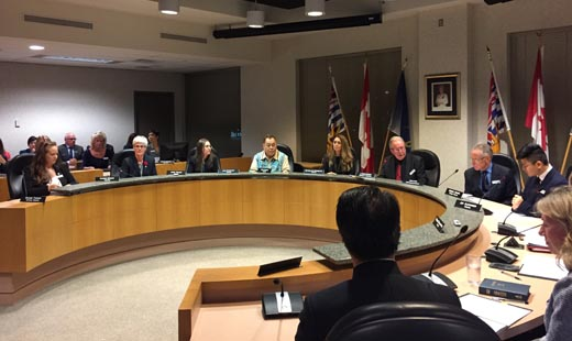 Vancouver School Board inaugural meeting, before Janet Fraser was elected as Chairperson