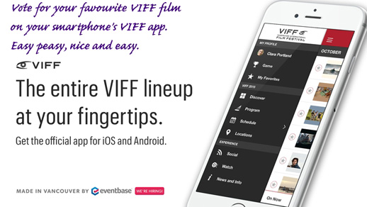 Vote for your favourite VIFF film using VIFF's smartphone app