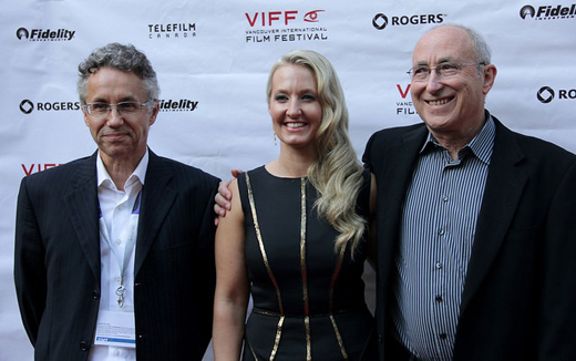 VIFF's Alan Franey and Jacqueline Dupuis, with VIFF co-founder, Leonard Schein