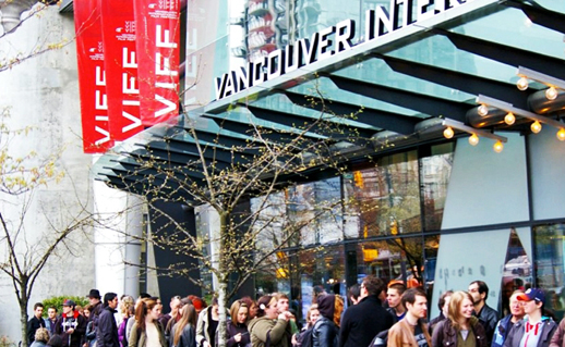 Patrons line up for a Vancouver International Film Festival screening