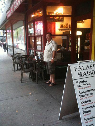 HUSSEIN ALAWIE, OWNER OF FALAFEL MAISON