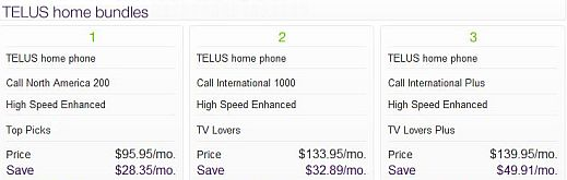 TELUS TV BUNDLES