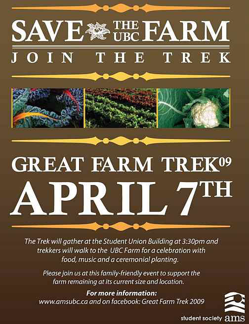 UBC SAVE THE FARM TREK